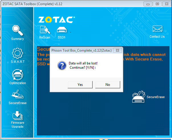 ZOTAC SSD Tool Box | ZOTAC