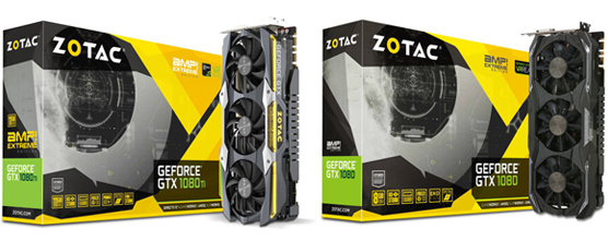 The ZOTAC GeForce GTX 1080 Ti AMP! Extreme and 1080 AMP! Extreme