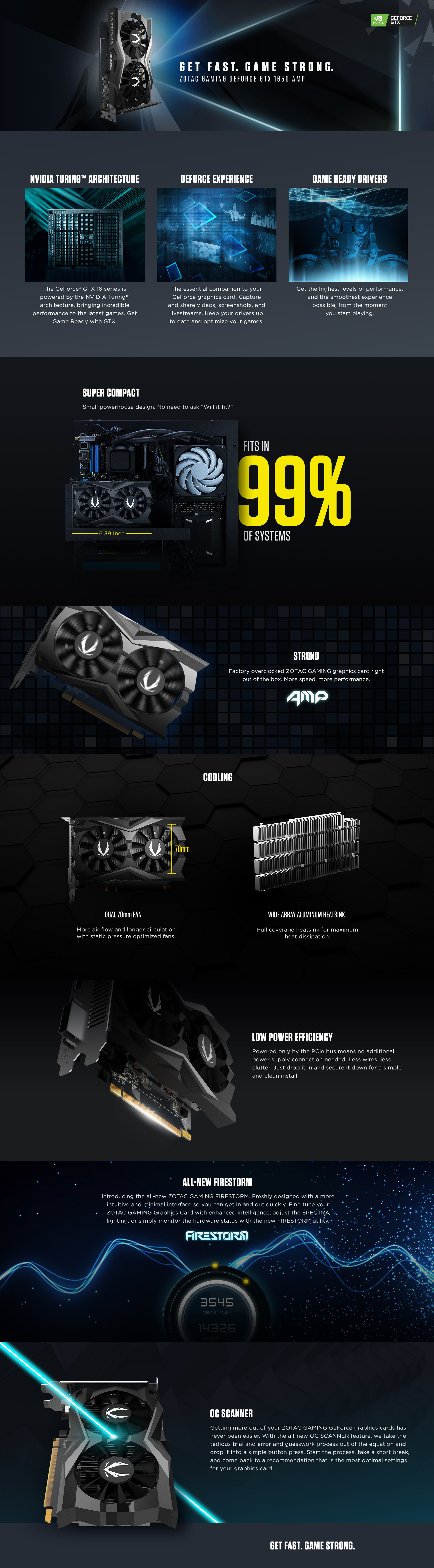 ZOTAC GAMING GeForce GTX 1650 AMP | ZOTAC
