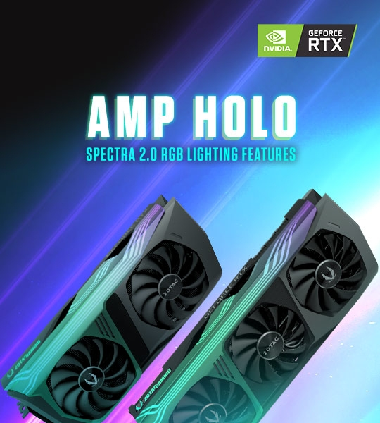 AMP Holo SPECTRA 2.0 RGB Beleuchtungs Features