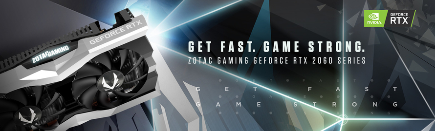 Com as placas gráficas super compactas ZOTAC GAMING GeForce RTX™ 2060 Series chega uma nova geração de jogos