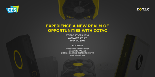 Experience New Opportunities with ZOTAC at CES 2016