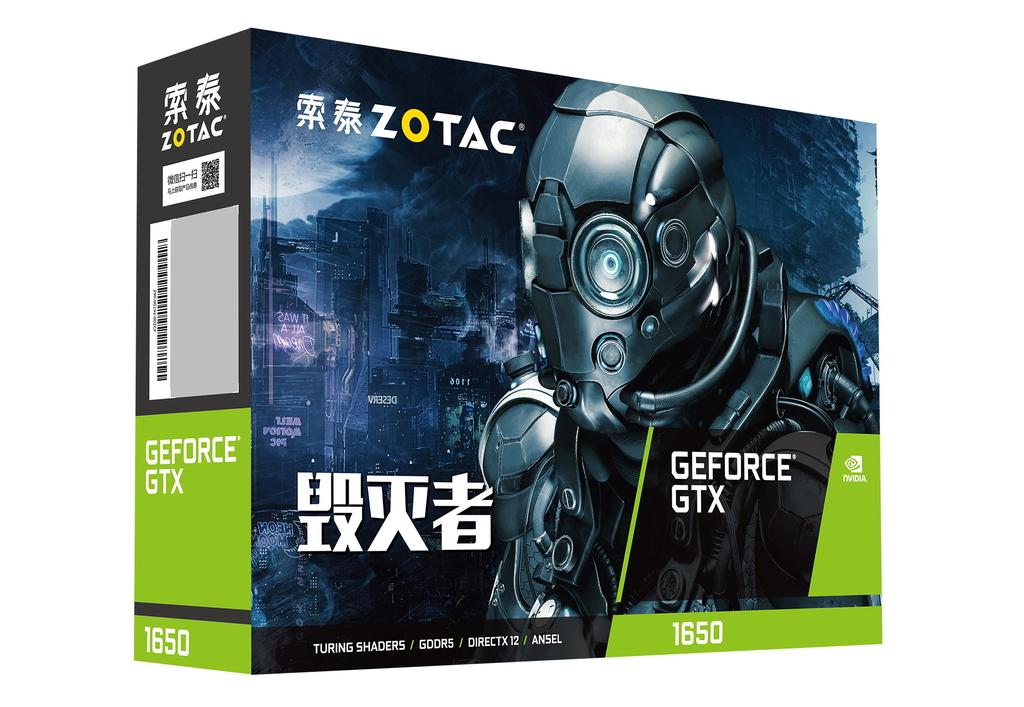 索泰 GeForce® GTX1650-4GD5 毁灭者 PA