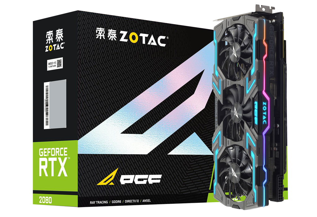 索泰 GeForce® RTX2080-8GD6 玩家力量至尊PGF OC8