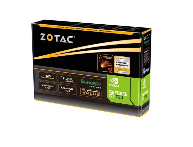 ZOTAC GeForce® GT 730 1GB DDR3 SYNERGY Edition