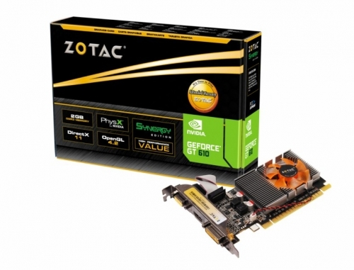 GeForce ® GT 610 Synergy 2GB | ZOTAC