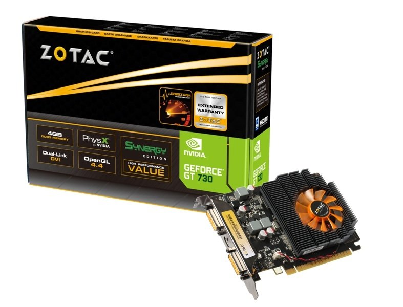 GeForce® GT 730 4GB DDR3 SYNERGY Edition