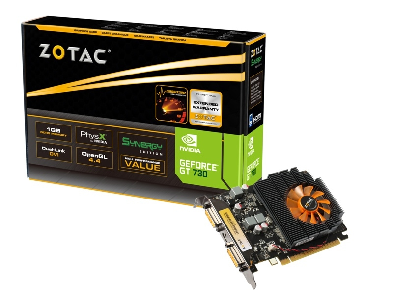 GeForce® GT 730 1GB DDR3 SYNERGY Edition