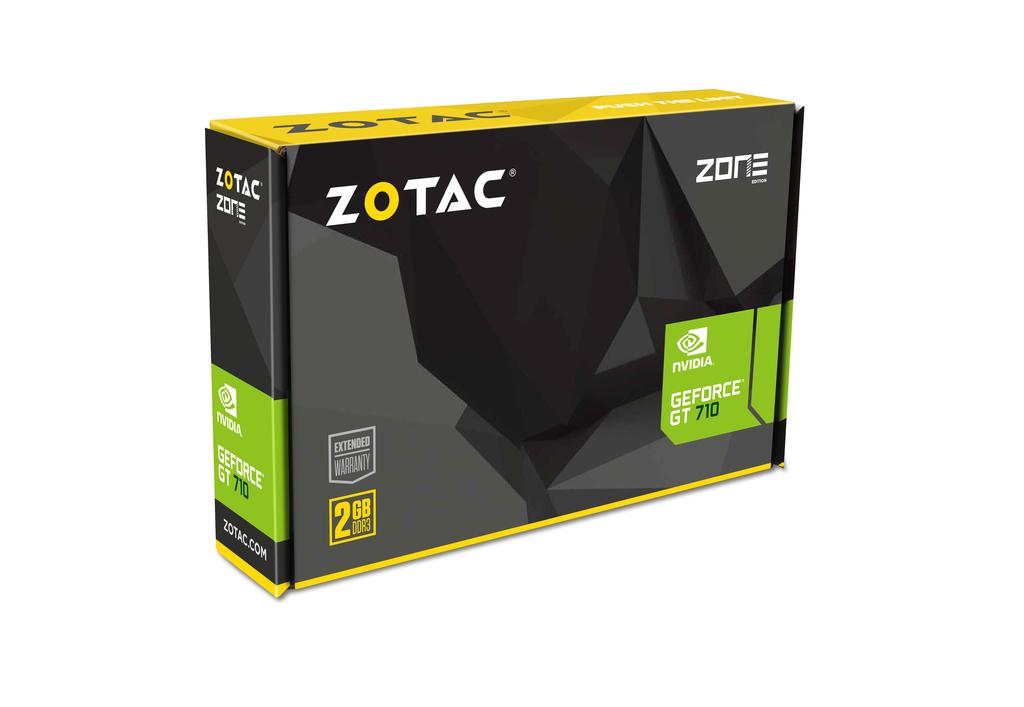 1 Gb Ddr3 Sdram Zotac Geforce Gt 710 Graphic Card 954 Mhz Core Pci Express