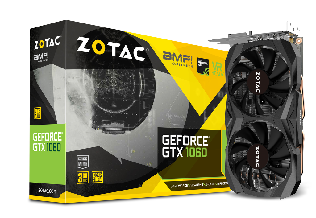ZOTAC GeForce® GTX 1060 3GB AMP Core Edition