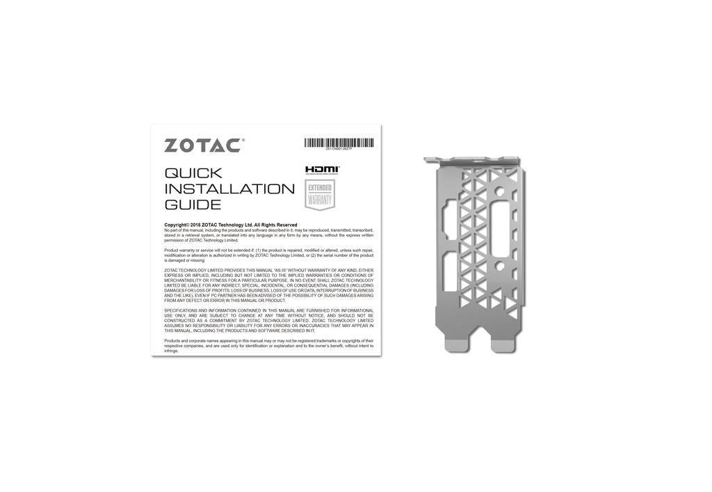 ZOTAC GAMING GeForce GTX 1650 Low Profile