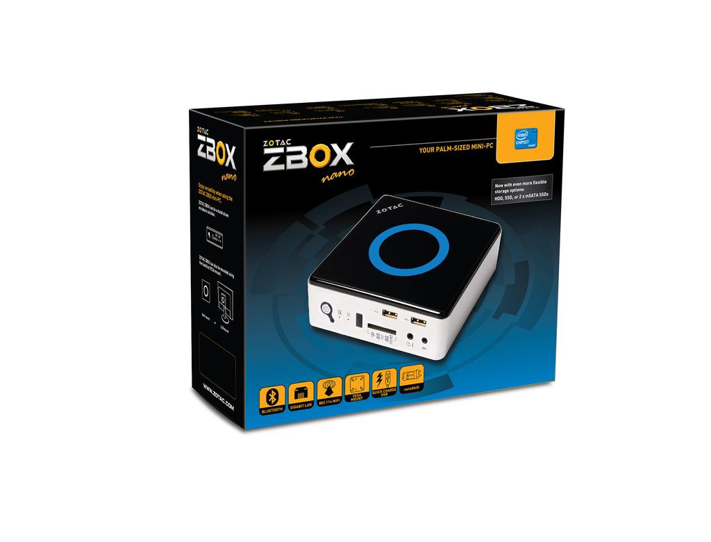 Renewed ZOTAC ZBOX Nano Intel up to 3.1 GHz Dual Core Barebone ZBOXNANO-ID65-U