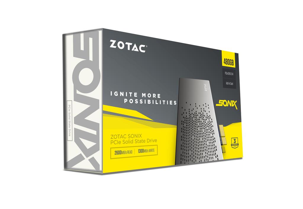 ZOTAC SONIX PCIE 480GB SSD